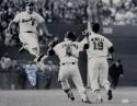 Brooks Robinson Signed *Blue Orioles 16x20 Jumping Photo W/ HOF- JSA W Auth