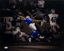 Odell Beckham Autographed NY Giants 16x20 B/W & Color Matte Photo- JSA Auth