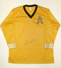 William Shatner Signed Star Trek Captain Kirk Gold Shirt- JSA Witnessed Auth