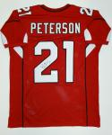 Patrick Peterson Autographed Red Pro Style Jersey- JSA Witnessed Authenticated