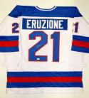 Mike Eruzione Autographed Team USA White Jersey- JSA Witnessed Auth