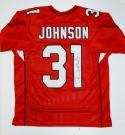 David Johnson Autographed Red Pro Style Jersey- JSA Witnessed Authenticated