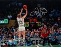 Larry Bird Autographed Boston Celtics 16x20 Against MJ Photo- JSA Authenticated