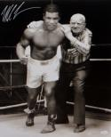 Mike Tyson Autographed 16x20 With Cus D'Amato B&W Photo- JSA Witnessed Auth