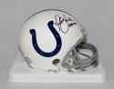 Marshall Faulk Autographed Indianapolis Colts Mini Helmet W/ HOF- JSA W Auth