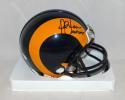Marshall Faulk Autographed St. Louis Rams TB Mini Helmet With HOF- JSA W Auth