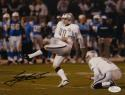 Sebastian Janikowski Signed Oakland Raiders 8x10 Field Goal Photo- JSA W Auth