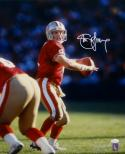 Steve Young Autographed San Francisco 49ers 16x20 Passing Photo- JSA W Auth