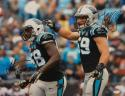 Luke Kuechly Thomas Davis Signed *Black Carolina Panthers 16x20 Photo- JSA Auth
