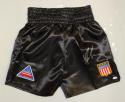 Mike Tyson Autographed Black Boxing Trunks- JSA Witnessed Authenticated