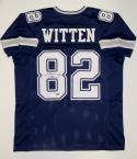 Jason Witten Autographed Blue Pro Style Jersey- JSA Witnessed Auth