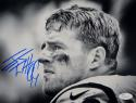 J. J. Watt Autographed Houston Texans 8x10 B&W Close Up Photo- JSA W Auth