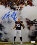 JJ Watt Autographed Houston Texans 8x10 Yelling Photo- JSA Witnessed Auth