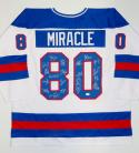 1980 Miracle On Ice Team USA Autographed White Jersey W/ 20 Sigs- JSA W Auth