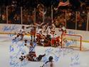 1980 Miracle On Ice Team USA Autographed 16x20 Photo W/ 20 Signatures-JSA W Auth