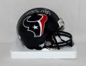 JJ Watt Autographed Houston Texans Mini Helmet- JSA Witnessed Auth