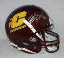 JJ Watt Autographed Central Michigan Full Size Schutt Helmet- JSA W Auth