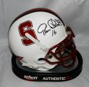 Jim Plunkett Autographed Stanford Cardinals Mini Helmet- JSA Witnessed Auth