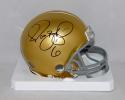 Jerome Bettis Autographed Notre Dame Riddell Mini Helmet- JSA Witnessed Auth