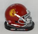 Brian Cushing Autographed USC Trojans Schutt Mini Helmet- JSA Witnessed Auth