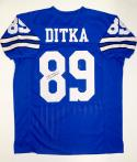 Mike Ditka Autographed Blue Pro Style Jersey With JSA Witnessed Auth