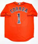 Carlos Correa Autographed Houston Astros Majestic MLB Jersey- Tristar Auth