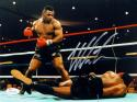 Mike Tyson Autographed *Silver 8x10 Standing Over Photo- JSA Witnessed Auth
