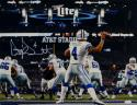 Dak Prescott Autographed Cowboys 16x20 Passing Against Eagles Photo- JSA W Auth