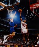 Scottie Pippen Autographed *Silver Chicago Bulls 16x20 In Air Photo- JSA Auth