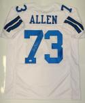 Larry Allen Autographed White Pro Style Jersey With HOF- JSA Witnessed Auth