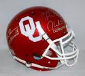 White Owens Sims Signed OU F/S Schutt Authentic Helmet W/ Heisman- JSA W Auth