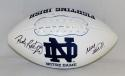 Rudy Ruettiger Autographed Notre Dame Fighting Irish Logo Football- JSA W Auth