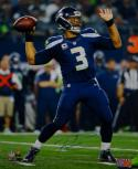 Russell Wilson Autographed Seahawks 16x20 About To Pass PF. Photo- Wilson Holo