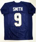 Jaylon Smith Signed Blue College Style Jersey W/ Play Like A Champ- JSA W Auth