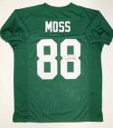 Randy Moss Autographed Green College Style Jersey- JSA Witnessed Auth