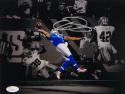 Odell Beckham Autographed NY Giants 8x10 The Catch B&W Photo- JSA Authenticated