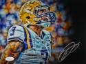 Odell Beckham Autographed LSU Tigers 8x10 Up Close Yelling Photo- JSA Auth