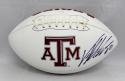 Von Miller Autographed Texas A&M Aggies Logo Footbal with JSA Witnessed Auth