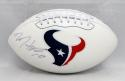 DeAndre Hopkins Autographed Houston Texans Logo Football- JSA Witnessed Auth