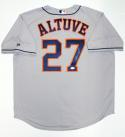 Jose Altuve Signed Houston Astros Gray Majestic MLB Authentic Jersey- JSA W Auth