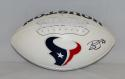 Brian Cushing Autographed Houston Texans Logo Football *Right- JSA Witnessed Auth