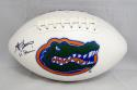 Steve Spurrier Autographed Florida Gators Logo Football With Heisman- JSA Auth