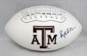 Bucky Richardson Autographed Texas A&M Aggies Logo Football- JSA Witnessed Auth