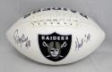 Ray Guy Autographed Oakland Raiders Logo Football W/ HOF- JSA W Authenticated