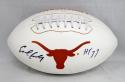 Earl Campbell Autographed Texas Longhorns Logo Football With HT- JSA W Auth