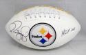 Jerome Bettis Autographed Pittsburgh Steelers Logo Football W/ HOF- JSA W Auth