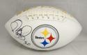 Jerome Bettis Autographed Pittsburgh Steelers Logo Football- JSA Witnessed Auth