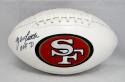 Y.A. Tittle Autographed San Francisco 49ers Logo Football With HOF- JSA W Auth