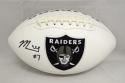 Marquette King Autographed Oakland Raiders Logo Football- JSA Witnessed Auth