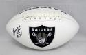 Bruce Irvin Autographed Oakland Raiders Logo Football- JSA Witnessed Auth